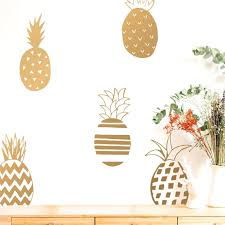 Pineapple Wall Decal Set His And Hers Welcome Vinyl Wall Etsy