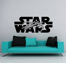 Wall Decals Star Wars Logo Xwing X Wing Fighter Children Nursery Kids Boys Room Office Window Wall Vinyl Decal Stickers Bedroom Murals On Star Wars