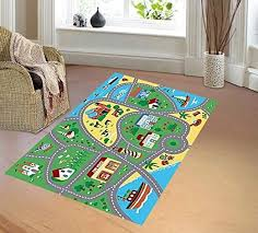 Amazon Com Furnish My Place 760 5x7 City Street Map Children Carpet Classrooms Playmate Home Kitchen Kids Rugs Childrens Area Rugs Boy Girl Nursery