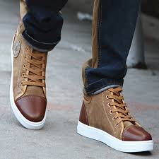 pu leather canvaop shoes mens