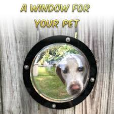 Acrylic Pet Cats Puppy Dogs House Sight Window Dome Insert Fence Safe Flap Door Ebay