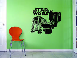 Amazon Com Wall Decal Star Wars Logo Mural Movie Series Characters Design Art Decor Silhouette Custom Wall Decal Vinyl Peel Stick Sticker 16 Inches X 16 Inches Home Kitchen