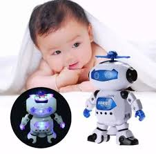 Đồ chơi robot 08 thông minh hát nhảy xoay 360 độ Theo Nhạc giúp bé yêu phát  triển trí tuệ, nhạy bén hơn