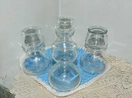 set of 4 quaffer double bubble glass