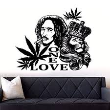 Reggae Ska Entertainment Memorabilia Wall Decor Bob Marley One Love Music Bumper Sticker 5 X 4 Vinyl Decal Zsco Iq