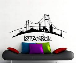 Amazon Com Adecalsnew Istanbul Logo Word Wall Decal Turkish City Vinyl Sticker Home Interior Art Decoration Any Room Mural Waterproof Vinyl Home Kitchen