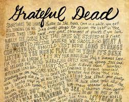 x grateful dead print lyrics