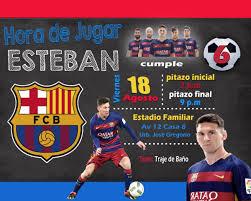 Invitacion Digital Para Cumpleanos De Messi Barcelona 120 00