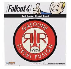 Fallout 4 Red Rocket Diesel Decal Walmart Com Walmart Com