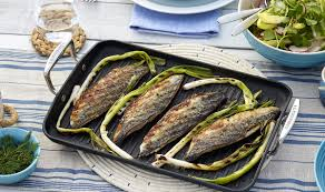 Grilled Mackerel, Spring Salad ...