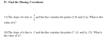 slope of a line worksheet with answer