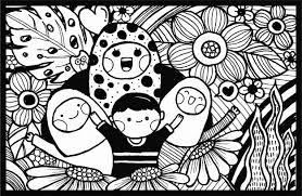 Zwart Wit Hand Tekenen Doodle Vector Moederdag Wenskaart