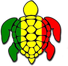 Amazon Com Sea Turtle Rasta Irie Reggae Design Red Yellow Green Hawaii Turtle Sticker Decal For Car Large 8 Sticker Made In The U S A Automotive