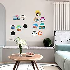 Amazon Com Omitfu Felt Bulletin Board Tiles Hexagon Pin Board For Girls Set Of 6 Colorful Foam Wall Decorative Memo Board With 6 Pushpins 5 5 X 5 X 0 5 Inches 6pc C Office Products