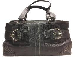 hampton pebble black leather satchel