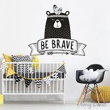Be Brave Wall Decal Cute Tribal Bear Wall Sticker For Kids Room Baby Bedroom Decor Nursery Bear Decal Tattoo Stickers A739 Wall Quotes Stickers Wall Removable Decals From Brendin 19 16 Dhgate Com