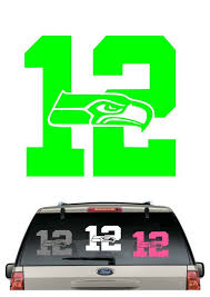 No Reserve Seahawks Window Or Wall Decal 8 X 8 Seahawks Football Decal Seattle Seahawks Football
