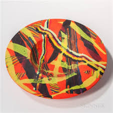 art glass bowl by klaus moje on artnet
