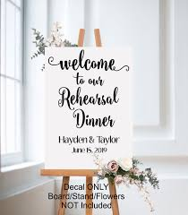 Welcome To Our Rehearsal Dinner Wedding Decal Run Wild Designs