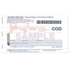 collect on delivery cod shipment form