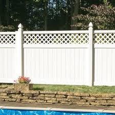 Vinyl Fence Fence Panels At Lowes Com Vinyl Fence Panels Fence With Lattice Top White Vinyl Fence