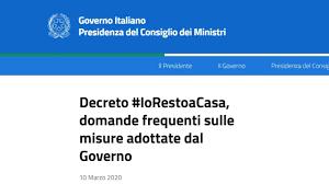 Coronavirus, DPCM #iorestoacasa: FAQ Governo, chiarimenti e ...