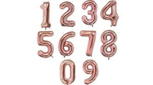 Rose Gold 9-es szám fólia lufi, 90 cm - Szám fólia lufi