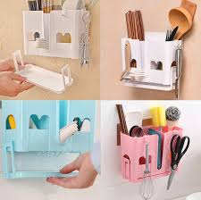 Wall Mounted Kitchen Storage Holder And Racks Draining Chuck Chopsticks Wall Decal Storage Organizer By Sticker For Home Use Storage Holders Racks Aliexpress