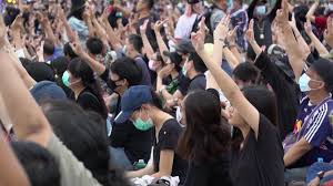 Protesters in Thailand using 'Hunger Game' sign to demand reform - CNN Video