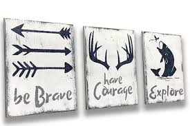 Kids Room Decor Be Brave Have Courage Rusticly Inspired Signs