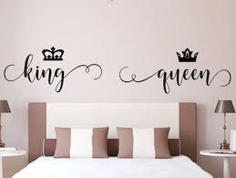 Best Sale Dbea7 Romantic Bedroom Decor Vinyl Wall Sticker King And Queen Headboard Decals Crown Decoration Room Removable Murals Wallpaper 4462 Cicig Co