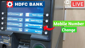 update new mobile number in hdfc bank