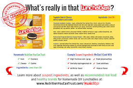 plus diy real food lunchables
