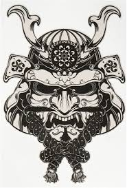 Amazon Com Japanese Samurai Demon Mask Grey Black Vinyl Decal Sticker Two In One Pack 4 Inches Tall Arts Crafts Sewing