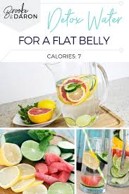 detox water for flat belly easy