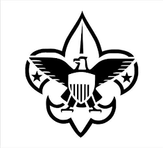 Amazon Com Boy Scouts Logo Decal Sticker Laptop Notebook Window Car Bumper Etc Stickers 5 In In Black Exterior Window Sticker With Kitchen Dining