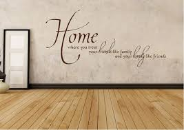 home family friends text quotes wall stickers adhesive wall sticker