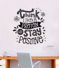 Think Like A Proton V3 Quote Decal Sticker Wall Vinyl Art Home Room De Boop Decals