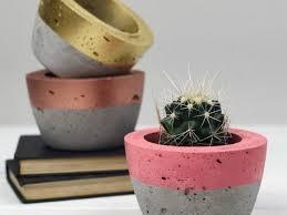 easy diy concrete planters ideas how