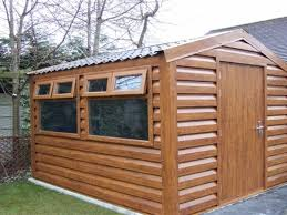 shanette wood effect metal sheds