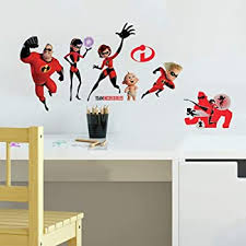 Roommates Incredibles 2 Giant Peel And Stick Wall Decals Amazon Com