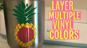 Layering Multicolored Vinyl Decals With Cricut Explore Registration Marks Youtube