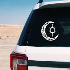 Sun Compass Vinyl Sticker Decals Car Window Decor Crescent Moon Laptop Decal For Apple Macbook Pro Air Decoration Wall Stickers Aliexpress