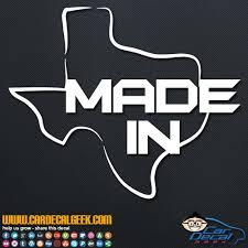 Made In Texas Car Truck Vinyl Decal Sticker