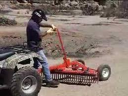 york tow behind rake