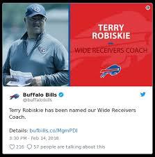 Former Titans OC Terry Robiskie hired as Bills WR coach