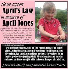 The April's Law petition set up by ...