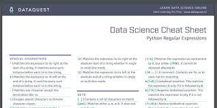python regex cheat sheet regular
