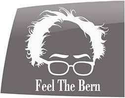 Amazon Com Window Swag Feel The Bern Solid White Decal Political Bernie Sanders Vinyl Sticker Automotive