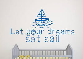 Nautical Wall Decal Nautical Nursery Wall Decal Nautical Etsy